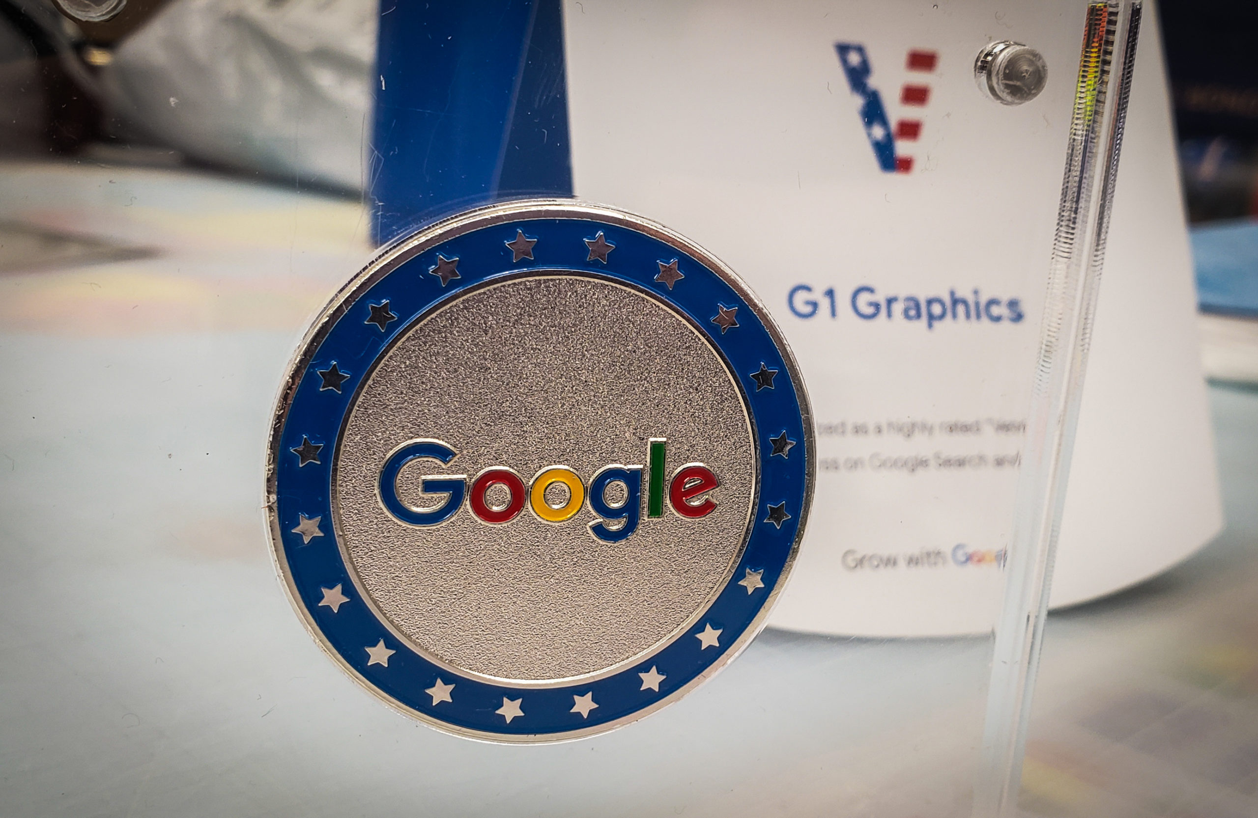 G1 Graphics Receives Grow With Google Challenge Coin G1